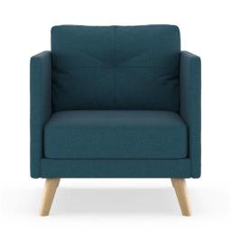 NyeKoncept 50060665 Kendall Armchair Cross Weave - Yale Blue with Natural Finish
