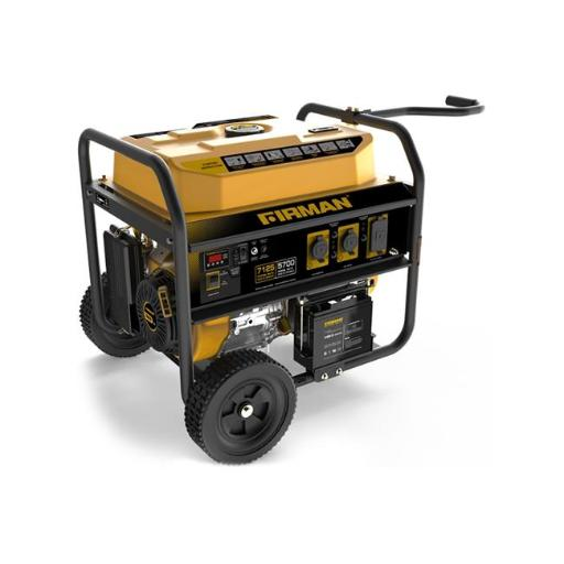 Firman Power Equipment P05701 Gas Powered 5700-7100 Watts Portable Generator with Wheel Kit