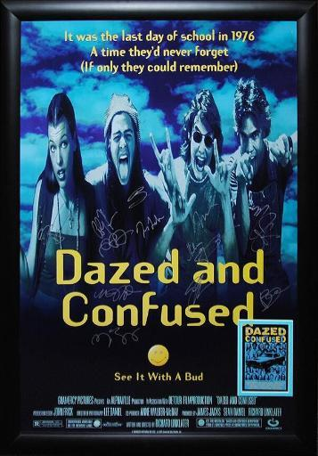 Dazed and Confused - Signed Movie Poster in Wood Frame with COA