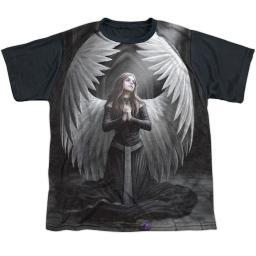 Anne Stokes Prayer For The Fallen Big Boys Youth Sublimation Black Back Shirt White