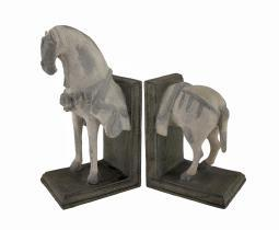 Imperial Horse Head and Tail Bookends Set of 2
