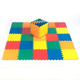 """Kidzone Made in Taiwan,12""""x12"""" 36 Pcs NON-TOXIC EVA Foam Puzzle Mat,5 Colors Kids Toddlers Baby 1/2"""" Thick,ASTM Standard"""