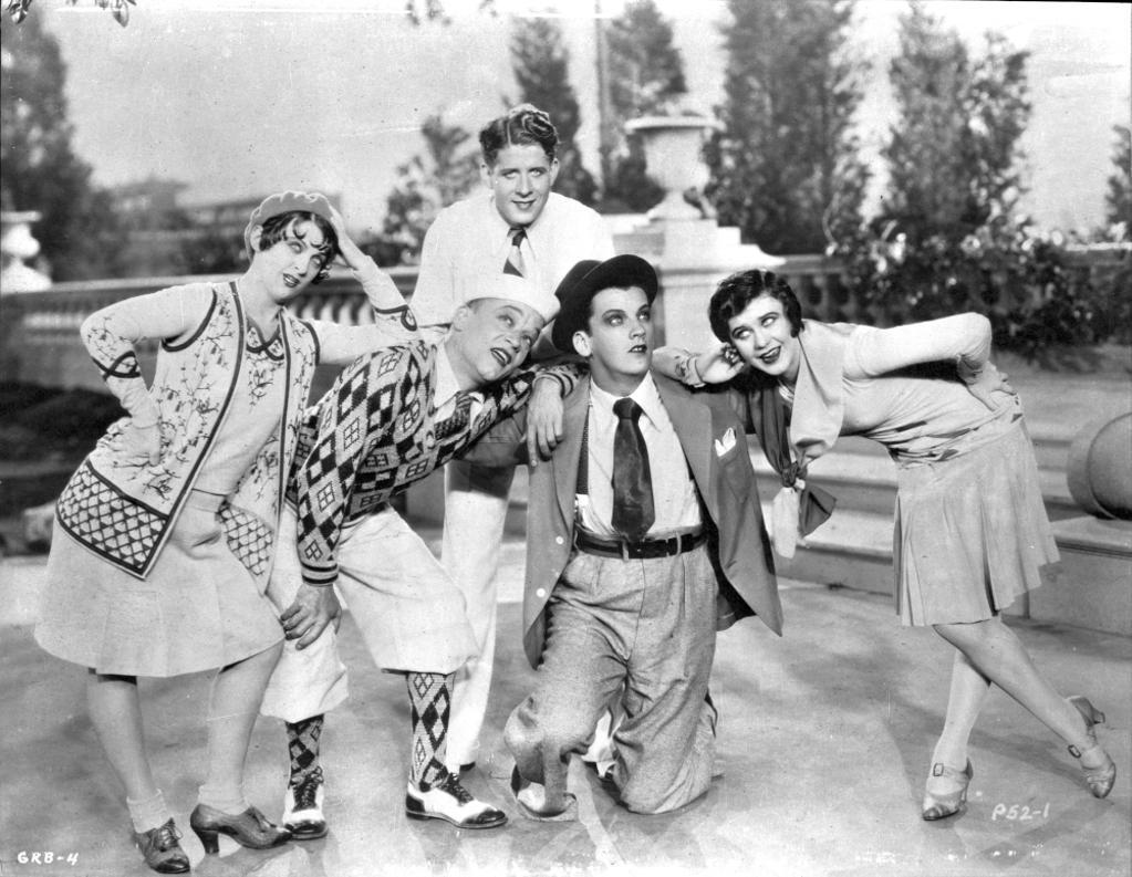 A publicity still of Rudy Vallee and co stars Photo Print