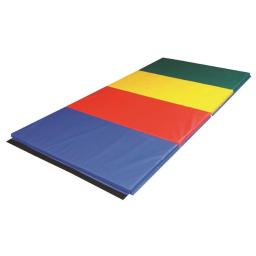 Cando 38-0082 Accordion Mat - 1.38 in. PE Foam with Cover, Rainbow Colors - 4 x 8 ft.