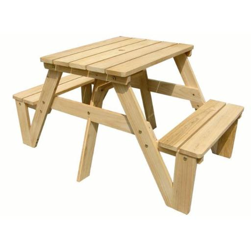 ODM Products Ltd. MM20301 Lohasrus Kids Picnic Table in Natural- MM20301