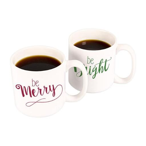 Cathys Concepts H16-3900 Merry & Bright 20 oz. Large Coffee Mugs Set of 2
