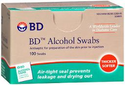 Bd Alcohol Swabs - 100 Ct, Pack Of 4