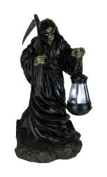 Grim Reaper Walking LED Solar Powered Outdoor Lantern Statue