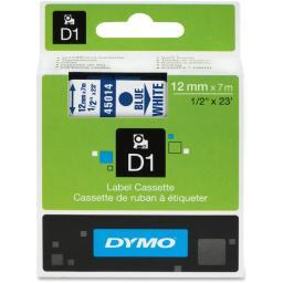 Dymo 45014 blue print/ white tape, 1/2 x 23