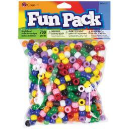 Fun Pack Acrylic Pony Beads 700/Pkg Rainbow