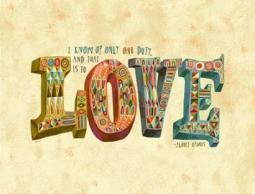 One Duty Love Poster Print by Richard Faust PDX570FAU1025ALARGE