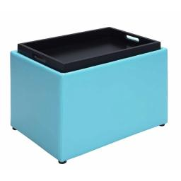 Convenience Concepts 143523SF Accent Storage Ottoman, Teal