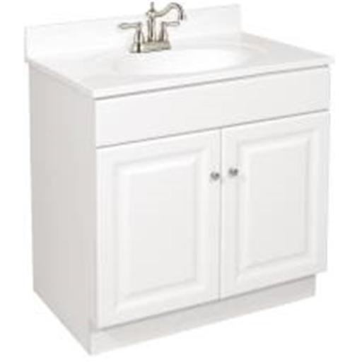 Design House 103505 Design House Wyndham Bathroom Vanity Cabinet Ready To Assemble 2 Door White 30X31-1/2X18