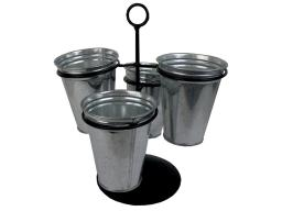 Spcnst557 spc metal pot planter 9 25 silver
