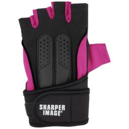 Sharper image(r) si-fg-380sm-pnk fitness gloves with wrist support (small; pink)