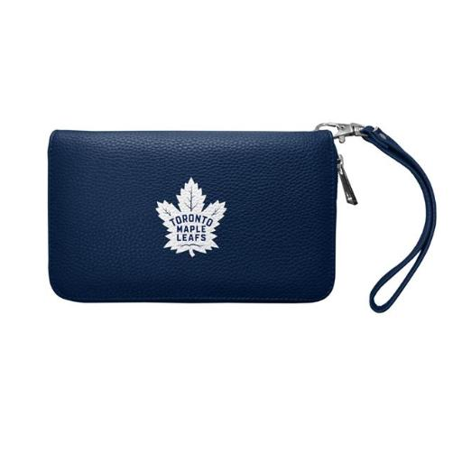 Little Earth 500901-LEAF-NAVY NHL Toronto Maple Leafs Pebble Organizer Wallet - Navy