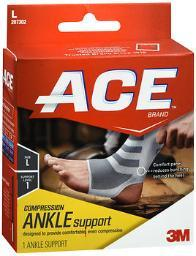 Ace Knitted Ankle Support Large, Mild Support - Each