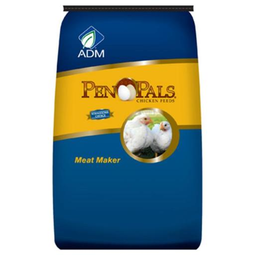 ADM Alliance Nutrition 70012AAA44 50 lbs. Chicken Meat Maker Non-Medicated Feed Crumbles