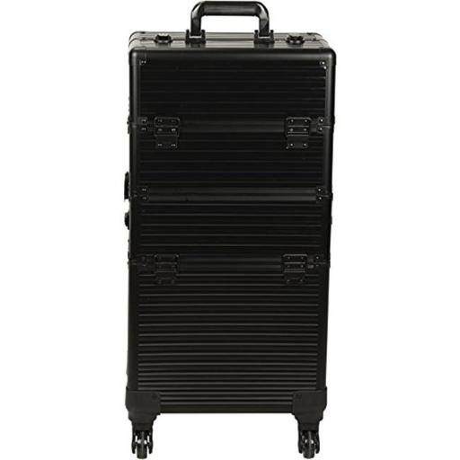 Ver VR6504STAB Stripe 4-Wheels Case, Black FMTYCXBMPB0RLZBH