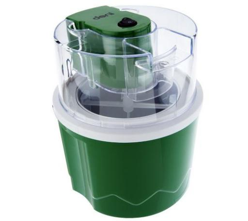 Deni Ice Cream Maker 1.5 qt. Automatic Ice Cream & Dessert Maker, Green Deni 1.5 qt. Automatic Ice Cream & Dessert MakerThe neighborhood ice cream shop's got nothing on you! With this 1.5-qt automatic ice cream maker, it's so simple to create your own delicious homemade ice cream--within 30 minutes! Best part is, you can make your own concoctions since you choose the ingredients.Just place the freezer bowl in the freezer the day before, then put the bowl in the unit, turn the machine on, add the ingredients and--presto--ice cream! You can even turn frozen fruit and other natural ingredients into yummy frozen yogurt, sherbet, or sorbet! From Deni.Includes 1.5-qt ice cream/dessert maker and recipesCreates homemade ice cream within 30 minutesFully automatic operation: place freezer bowl into freezer a day before use, then place bowl in unit, turn on machine, and add ingredientsPlastic/metal constructionMeasures approximately 9 H x 7-3/4 DiamETL listedMade in China