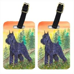 Carolines Treasures SS1051BT Schnauzer Luggage Tag - Pair 2, 4 x 2.75 In.