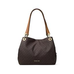 Michael Kors Raven Signature Large Shoulder Tote - Brown - 30H6GRXE3V-200