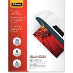 Fellowes, inc. 5223001 laminating pouch letter 11.5in x 9in landscape 5mil 100pk