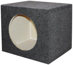 Qpower  Empty Woofer Box 12 Square Qpower QSMPSQ12E