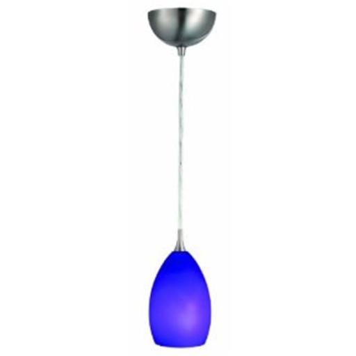 Design House 516831 Preston Collection Art Glass Pendant Light, Blue Glass 516831
