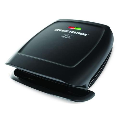 George Foreman GR2060B 4-Serving Fixed Plate Grill Black