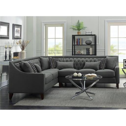 Compare Copenhagen Contemporary Italian Design Grey Fabric Sectional