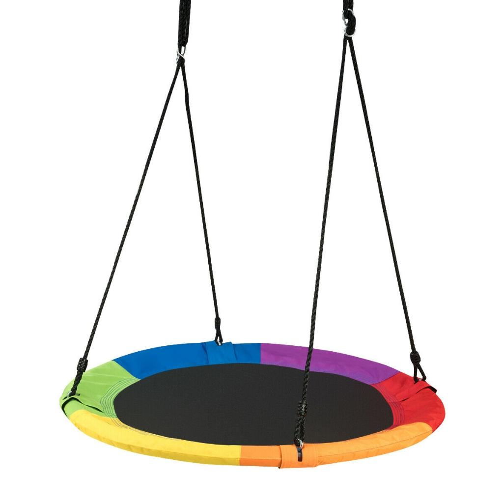 """40"""" Flying Saucer Tree Swing Outdoor Play for Kids"""