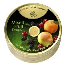 Cavendish & Harvey Mixed Candy Tin, Fruit, 5.3 Ounce (Pack of 12)