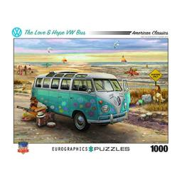 EuroGraphics The Love & Hope VW Bus by Greg Giordano 1000-Piece Puzzle