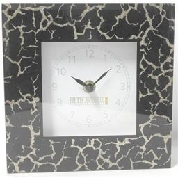 5th Avenue Collection Mirror Wall or Stand Alone Decorative Clock Black with Gold Accents
