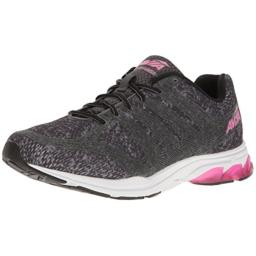 Avia Women's AVI-Versa Sneaker, Iron Grey/Black/Pink Energy, 8.5 Medium US