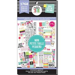 "me & my BIG ideas PPSV-42-3048""The""The Happy Planner"" Value Pack Stickers, Mini Basics"