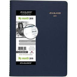 "AT-A-GLANCE Monthly Planner, January 2019 - March 2020, 8-7/8"" x 11"", Navy (7026020)"