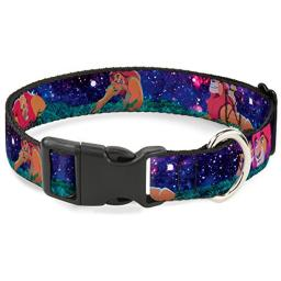 Buckle Down Cat Collar Breakaway Mufasa Simba Night Poses 8 to 12 Inches 0.5 Inch Wide