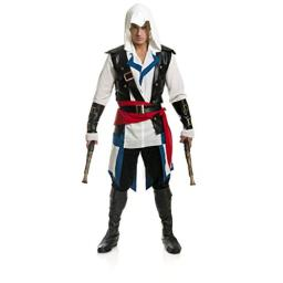 Charades Men's Cutthroat Pirate Costume, as Shown, Large