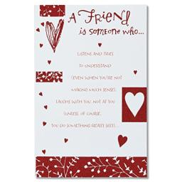 American Greetings A Friend Valentine's Day Card for Friend with Glitter