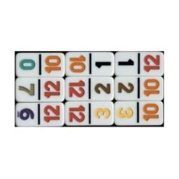 CHH Double 12 Professional Dominoe Set with Numeral Tiles