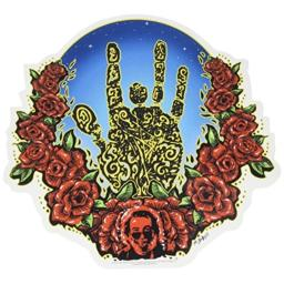 C&D Visionary Jerry Garcia Hand and Roses Sticker