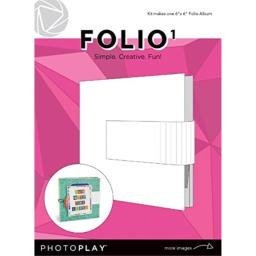 """Photoplay Paper PPP9451 PhotoPlay Maker Series Folio 6""""X6""""-White,"""