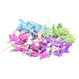 amscan Assorted Printed Paper Pinwheel Picks | 50 Ct.