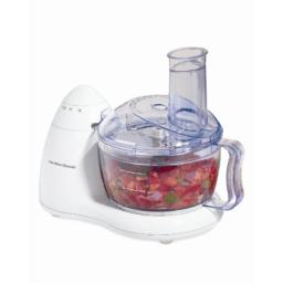 Hamilton Beach Compact 8-Cup Food Processor & Vegetable Chopper for Chopping, Shredding, Slicing, Mixing and Mincing, White (70450)