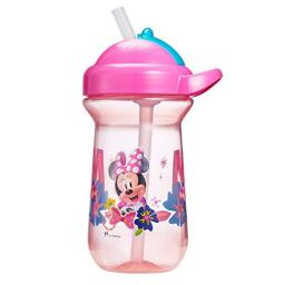 The First Years Flip Top Straw Cup for Toddlers, Minnie Mouse,10 Ounce (Pack of 1)