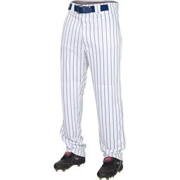 Rawlings Youth Semi-Relaxed Pants with Pin Stripe Design, Small, White/Navy