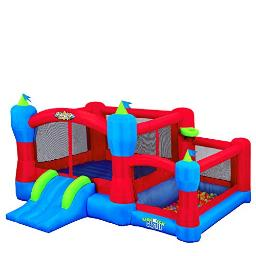 Blast Zone Sidekick Inflatable Bounce House With Blower Premium Quality Holds 6 Kids With Ball Pit