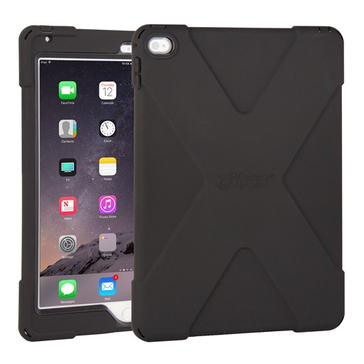 The Joy Factory aXtion Bold Water-Resistant Rugged Shockproof Case for iPad Air 2, Built-In Screen Protector Black/Black (CWA212B)